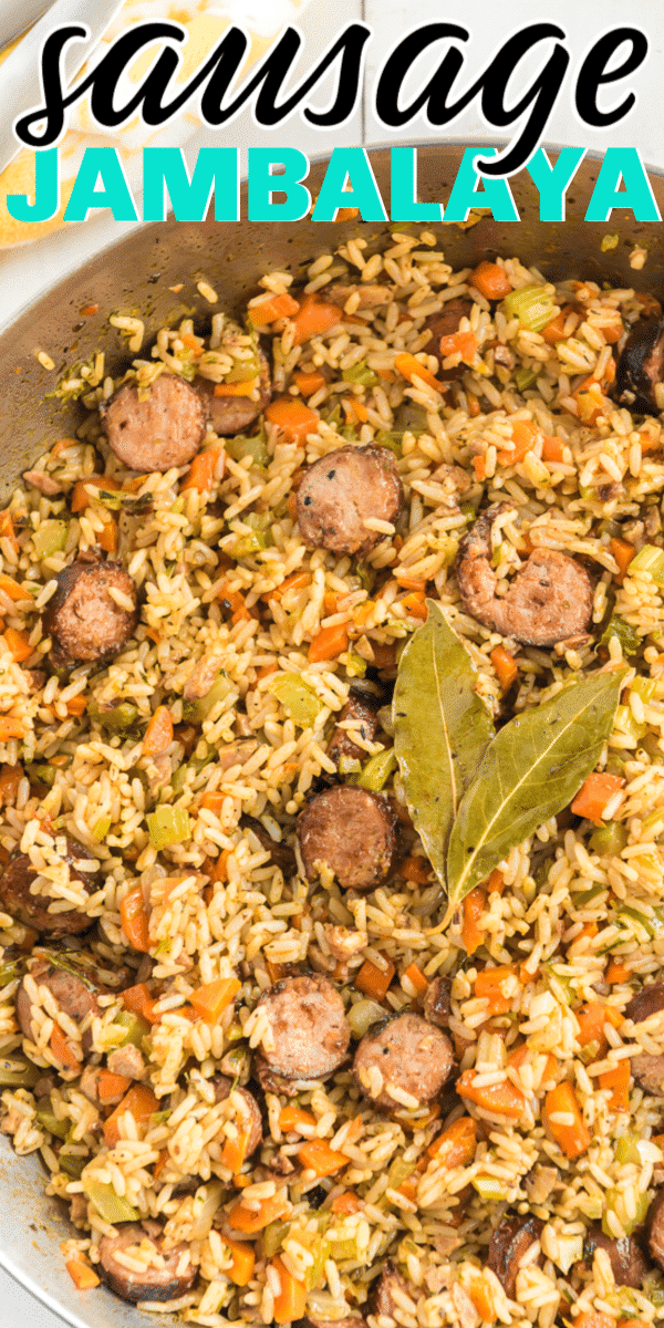 The best Cajun sausage jambalaya recipe! Easy to make, authentic flavor, and absolutely delicious!