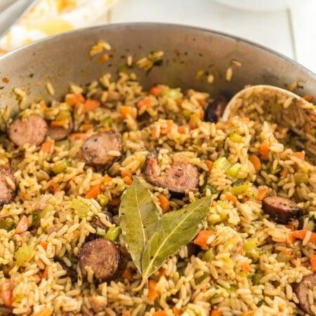 Thick sausage jambalaya