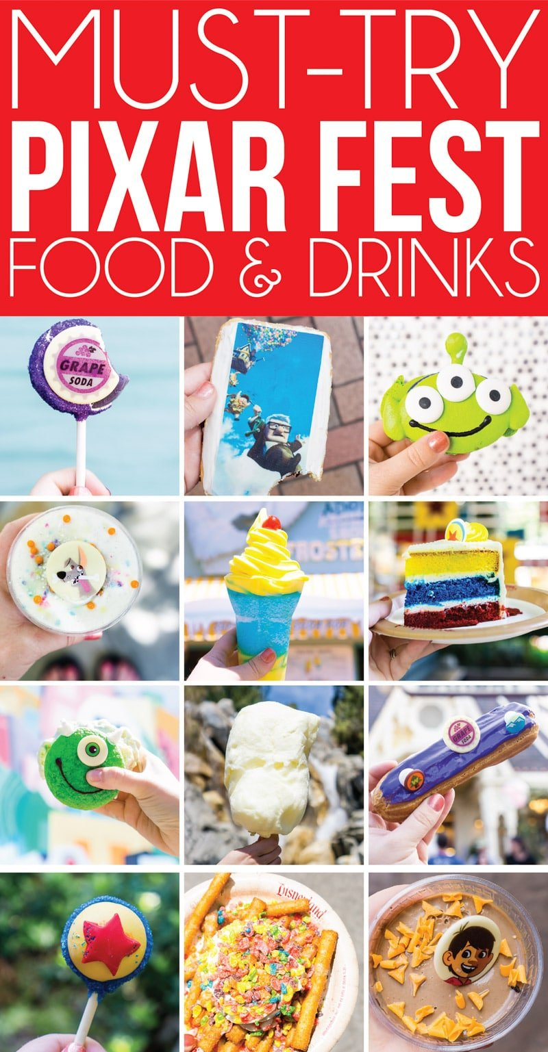 The best food at Disneyland's Pixar Fest! 12 things you have to try and 3 you should skip! The guide to Pixar Fest you want to bring with you this summer!