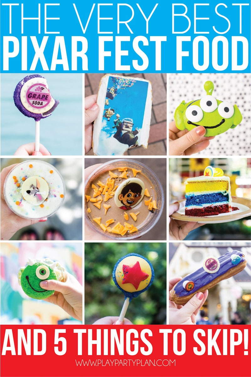 The best food at Disneyland's Pixar Fest! 12 things you have to try and 3 you should skip! The guide to Pixar Fest you want to bring with you this summer! via @playpartyplan