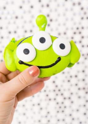 The alien macaron is one of the best Pixar Fest food options