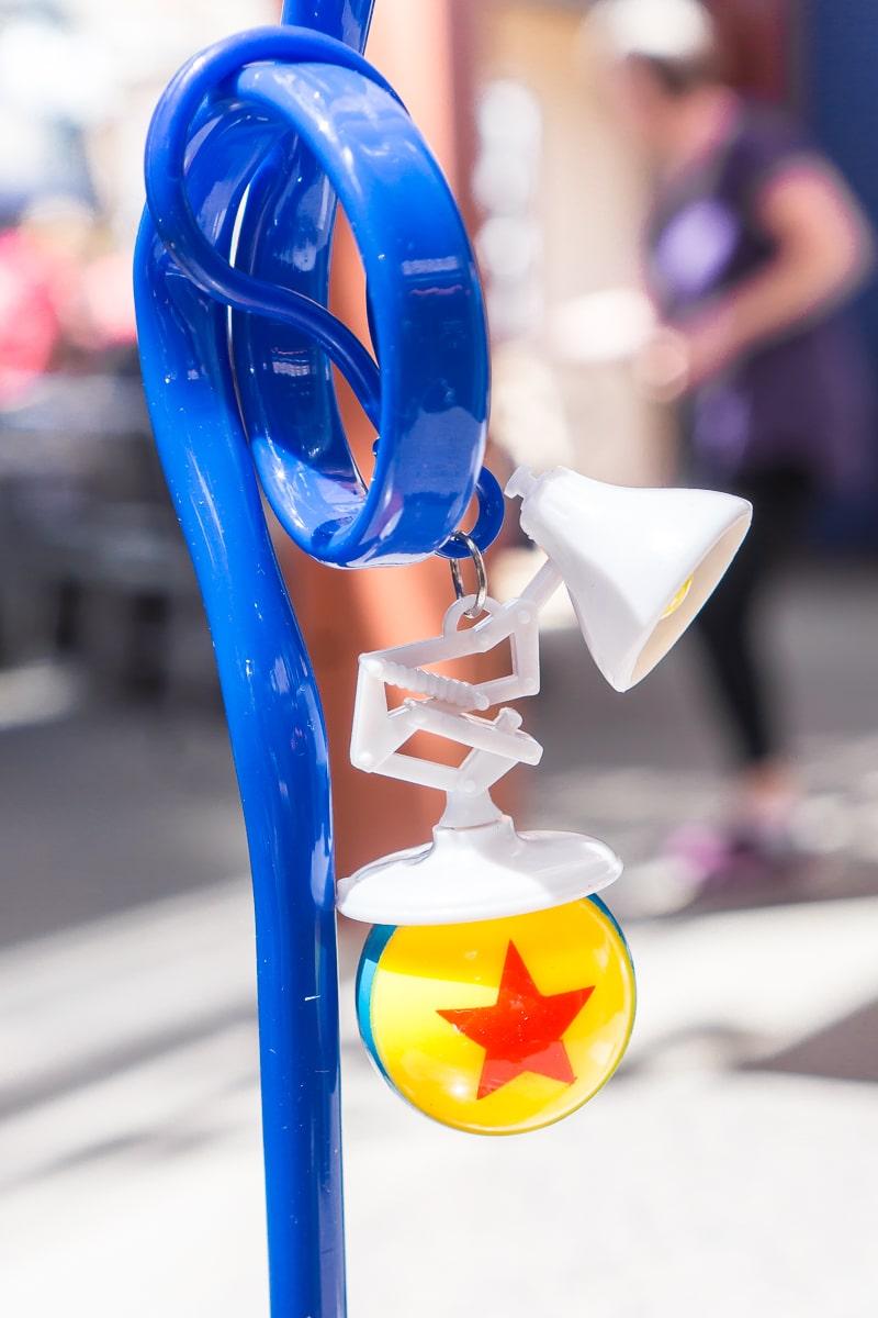 Souvenir Pixar lamp and ball straw from Pixar Fest