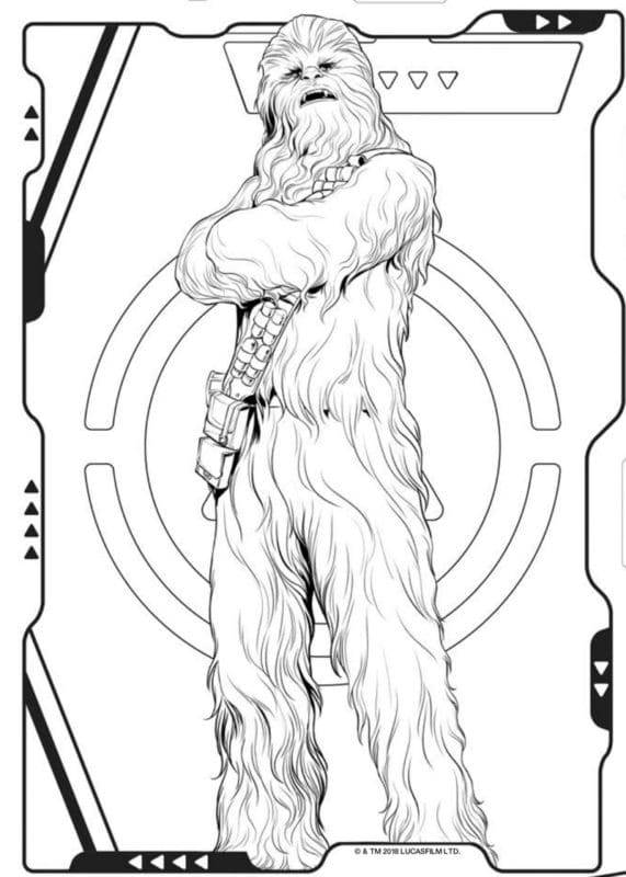 Han Solo Star Wars coloring pages