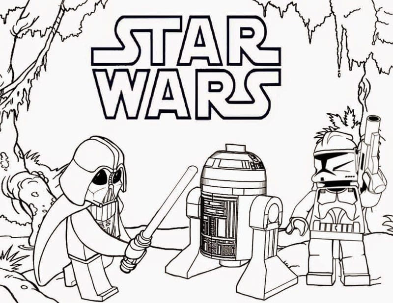Lego Star Wars coloring sheetes