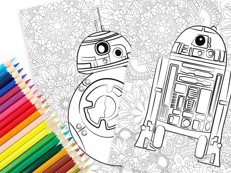 Adult Star Wars coloring sheets