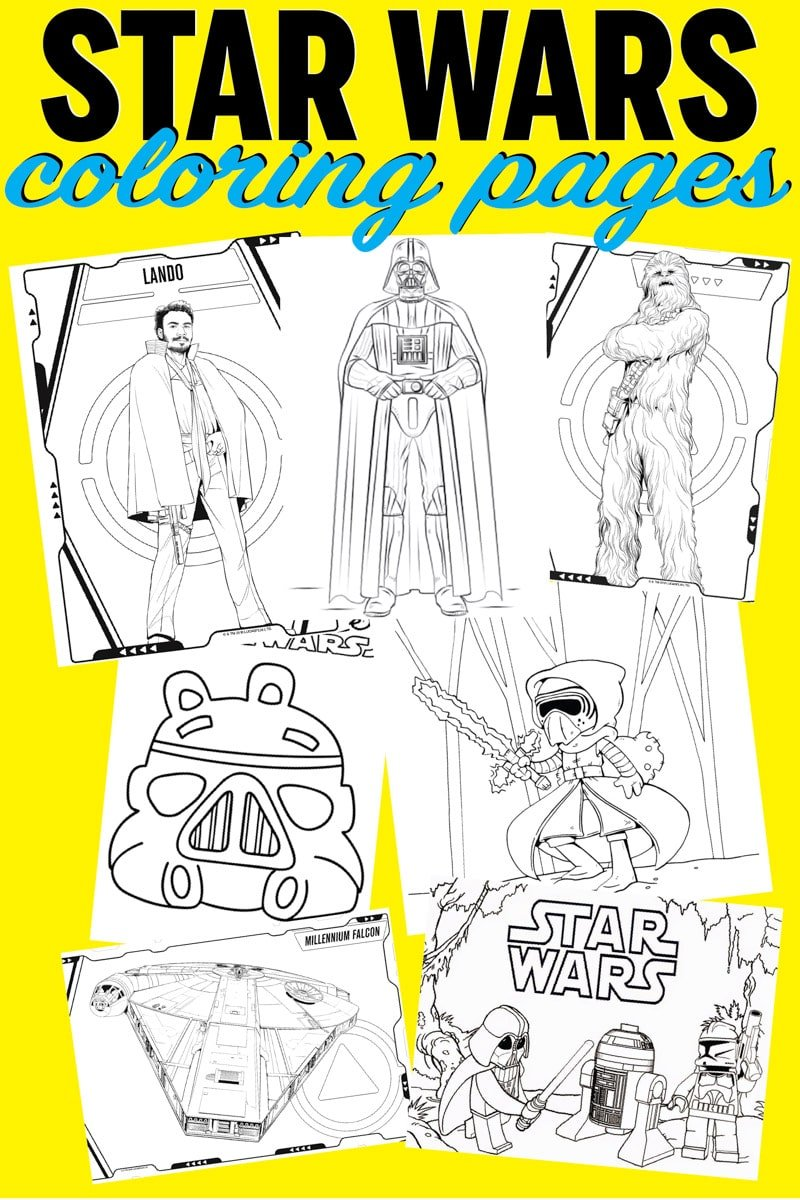 Tons of easy Star Wars coloring pages! Free printables of your favorite characters like Kylo Ren, Darth Vader, Princess Leia, Yoda, and more! Great for kids!