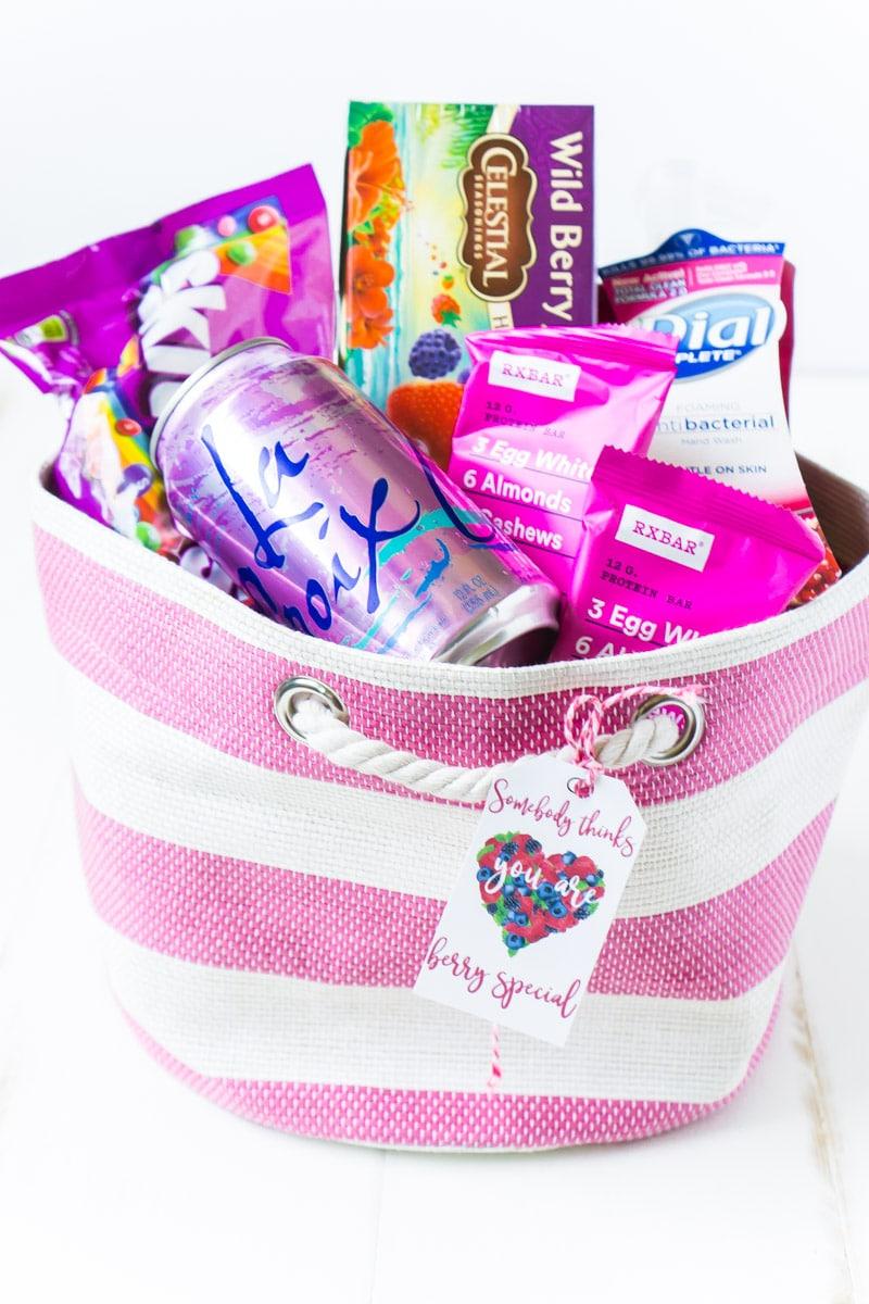 Berry inspired gift basket ideas for women