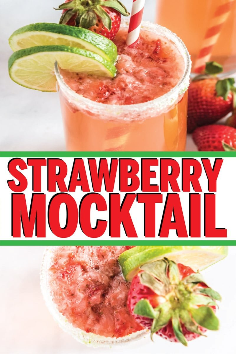 This strawberry citrus mocktail is one of the best non alcoholic drink recipes ever! It's simple to make and perfect for a summer party, for a pregnancy baby shower drink, or for an easy fun drink for kids! Tons of other great mocktail recipes that are perfect for teens too!