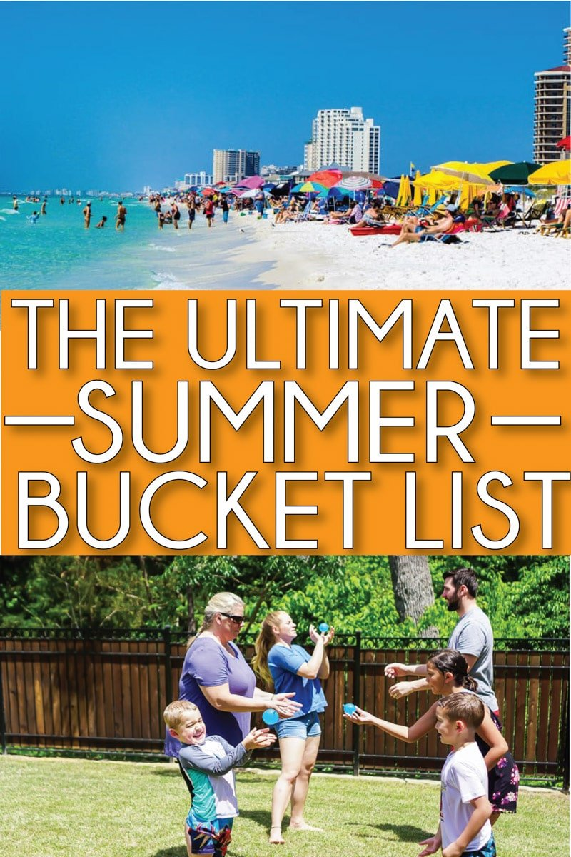 The best summer bucket list for 2019! Tons of activity ideas for teens, for kids, and even for couples! Or use this printable list to make your own family bucket list or create a version for adults!