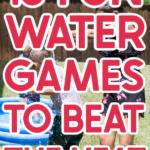 Kids playing fun water games