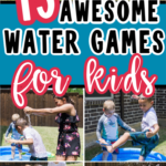 Kids playing water games