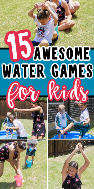 Kids playing water games