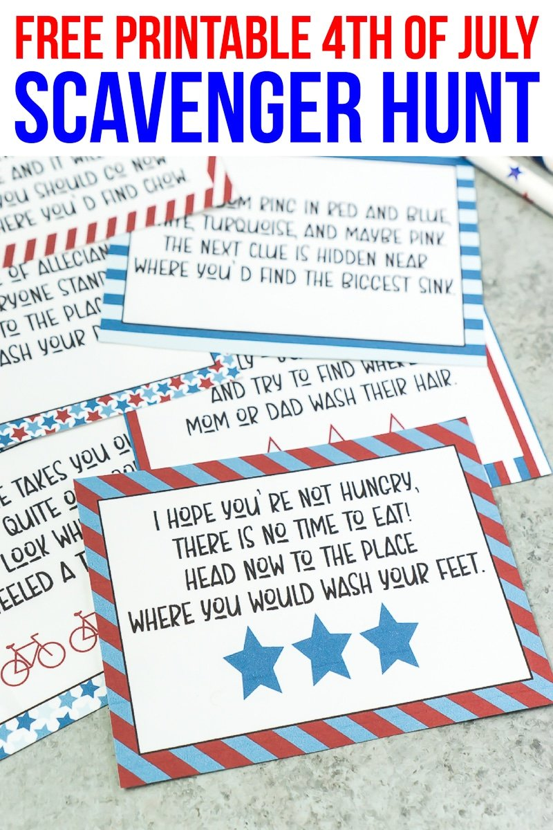 photo regarding Printable Scavenger Hunt titled A Totally free Printable 4th of July Scavenger Hunt for Young children - Engage in