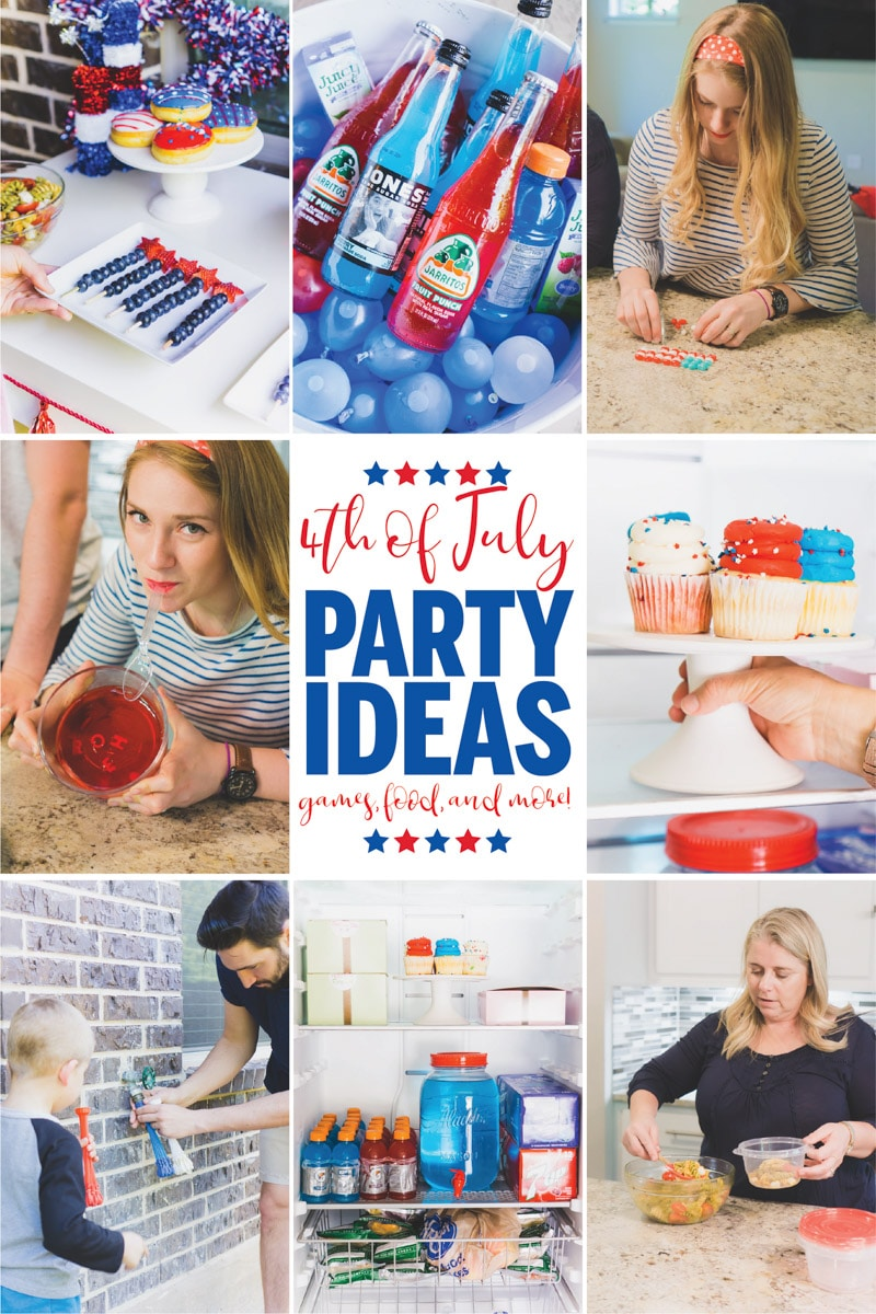 The best 4th of July party ideas ever! Easy DIY decorations, games for kids or for adults, things to do at night, and of course red white and blue food ideas! Great activities for families who want a cheap and fun outdoor extravaganza! via @playpartyplan