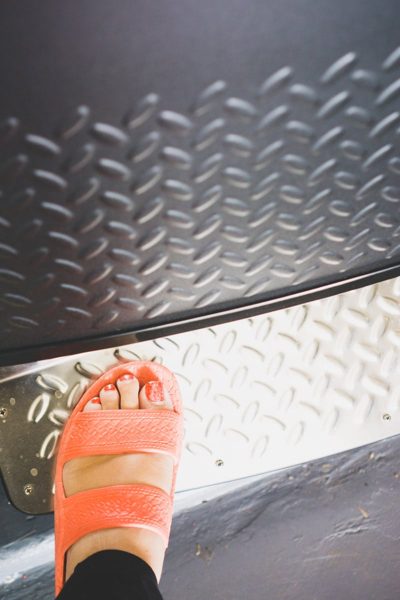 Stainless steel foot pedal on Gladiator All Refrigerator and Upright Freezer