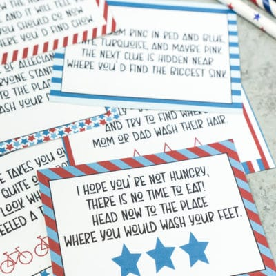 Printable 4th of July Scavenger Hunt + Tips for Impromptu Summer Parties