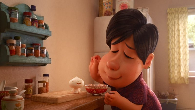 A shot of the mom and Bao in Pixar's New Short Film