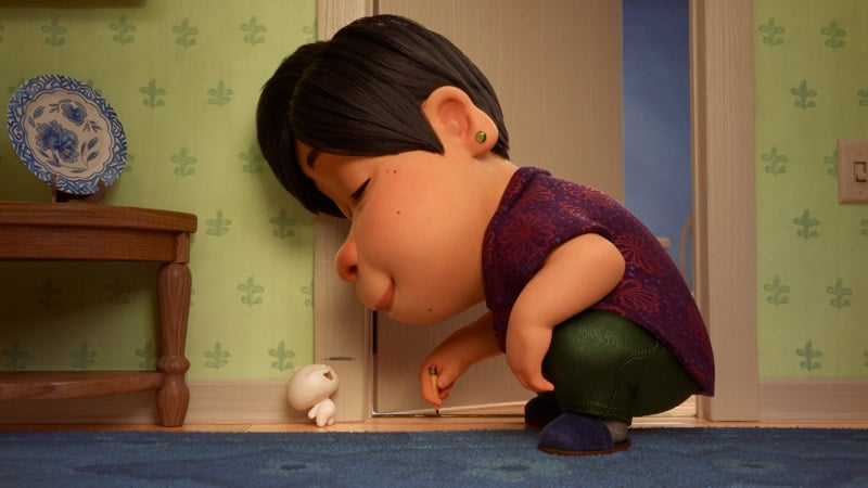 Showcasing the relationship in the Bao Pixar short film