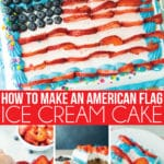 A detailed tutorial for turning a Carvel ice cream cake into an American flag cake