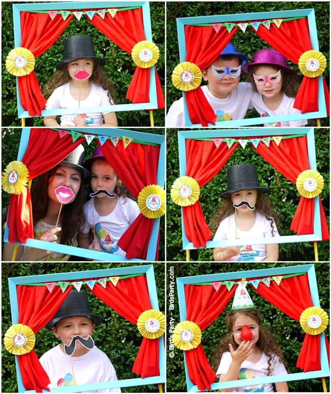 Circus party photo booth