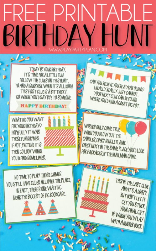 19e25f3df6abd This birthday scavenger hunt is one of the most fun birthday ideas for kids  or for