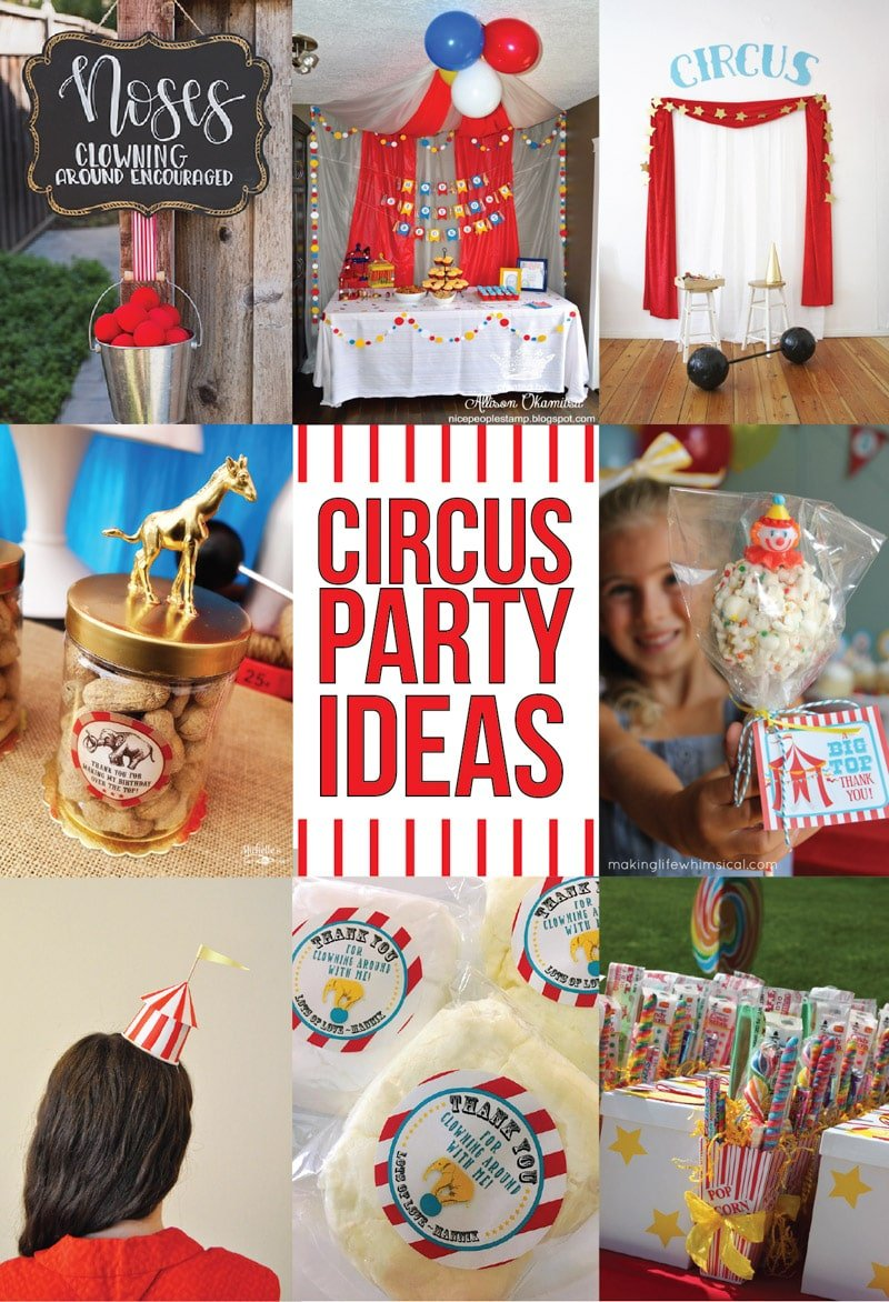Collection Of The Best Circus Theme Party Ideas