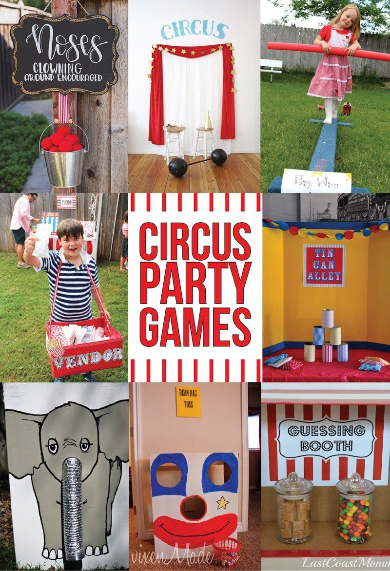 Circus theme party games and more