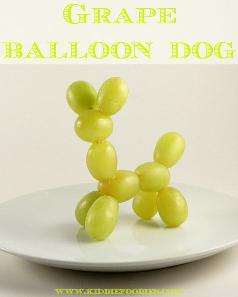 Grape balloon animals are fun for kids at a circus party
