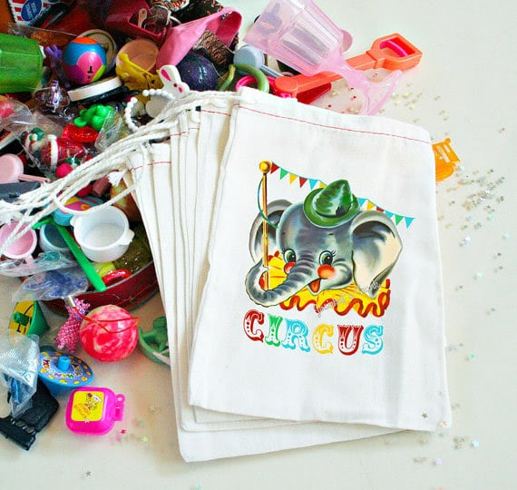 Circus party favor bags