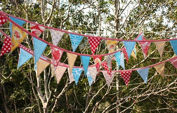 Circus party fabric bunting
