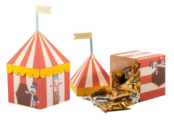 Circus tent circus party favors