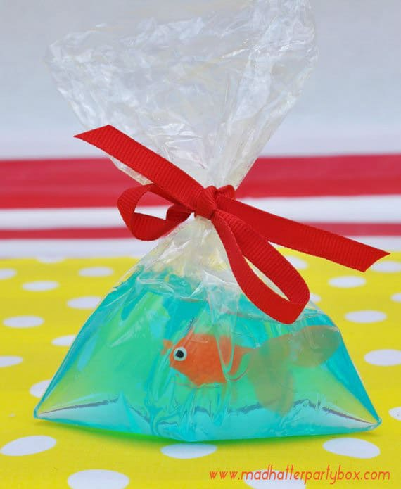 Carnival game fish in a soap make a great circus theme party favor