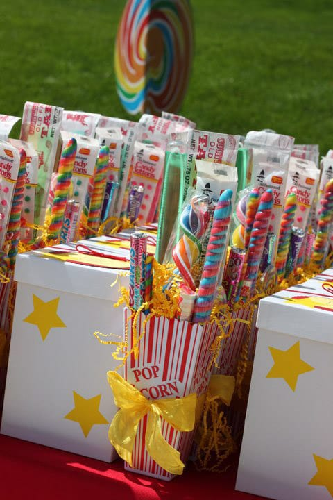 Candy filled circus party favors