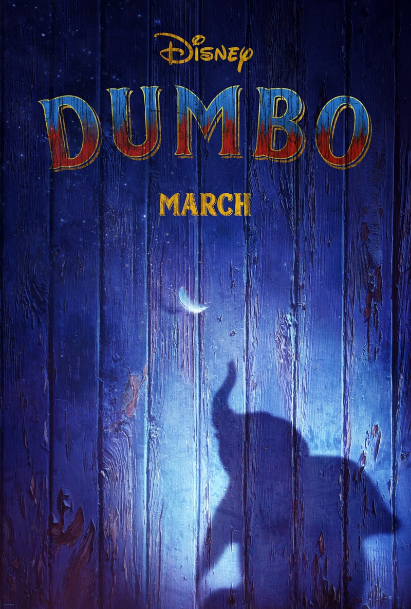 Dumbo live action movie trailer and poster