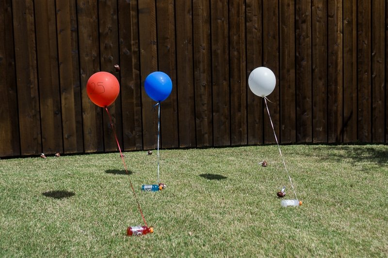 Balloon down, one of the most fun outdoor party games