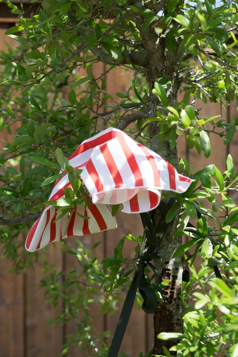 A flag in a tree - one of the best outdoor games