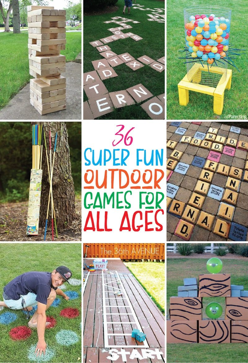Outdoor games: a selection of sites