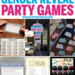 The best gender reveal party games and activities! Everything from baby related minute to win it games to free simple printables you can play with entire families! Tons of hilarious and unique games everyone will love! And even fun ideas for prizes!