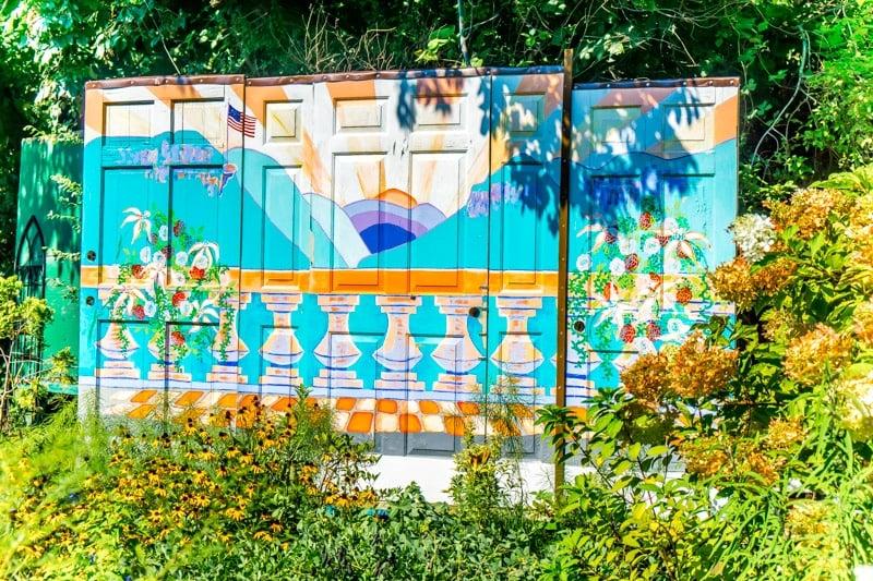 The latest door displays on the Lake Lure Flowering Bridge