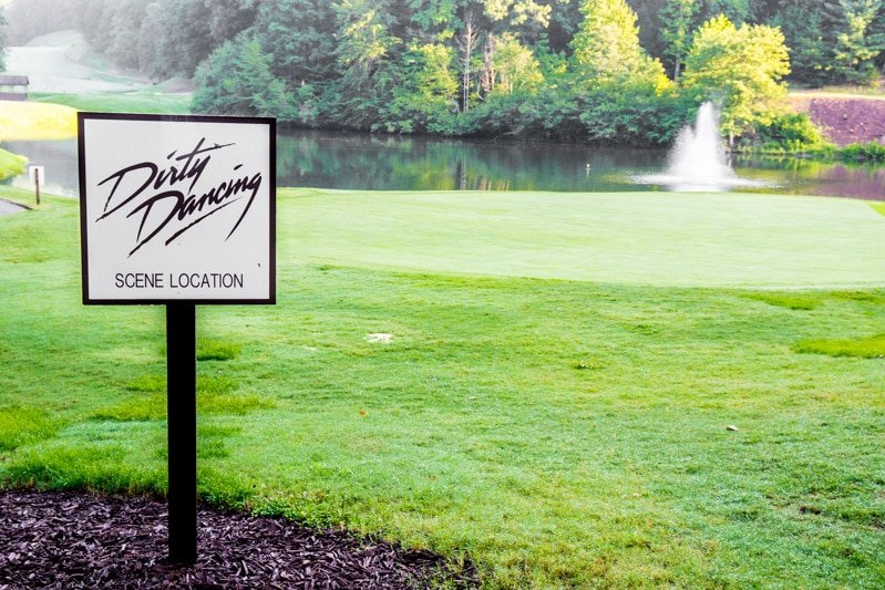 Visiting the Dirty Dancing golf hole is one of the best things to do in Lake Lure NC