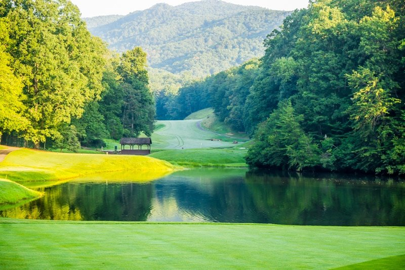 A gorgeous view of the Bald Mountain golf course