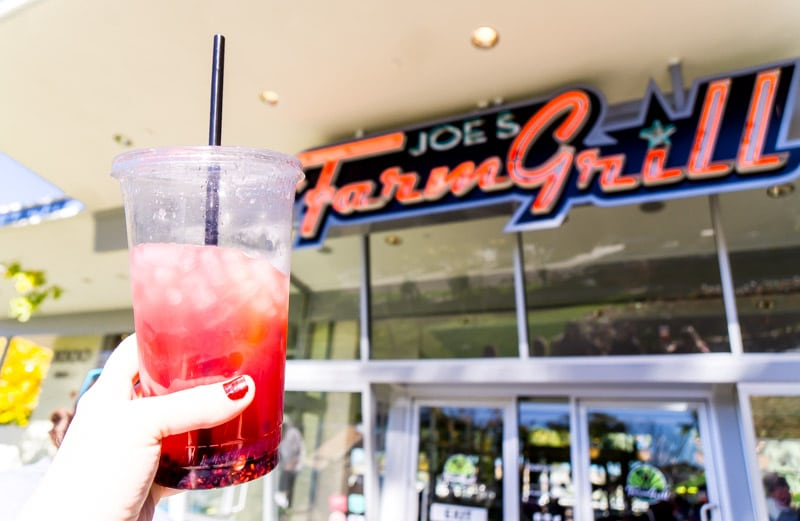 Blackberry lemonade outside Joe's Farm Grill