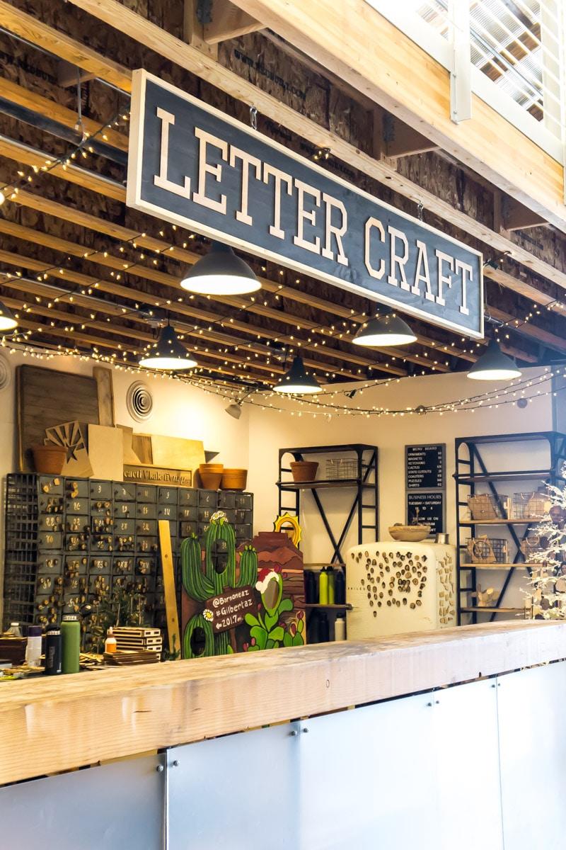 A handpress lettering shop in Barnone Phoenix AZ