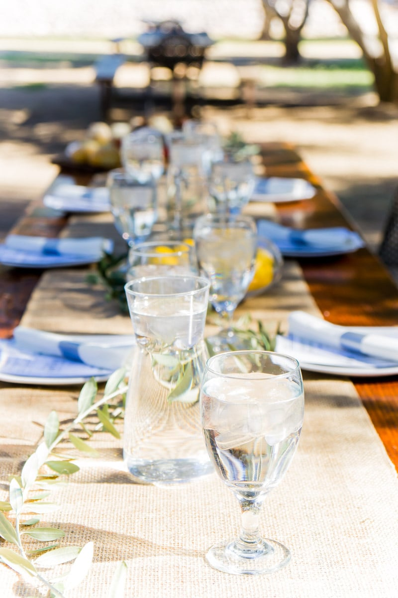 A beautiful tablescape at the Queen Creek Olive Mill