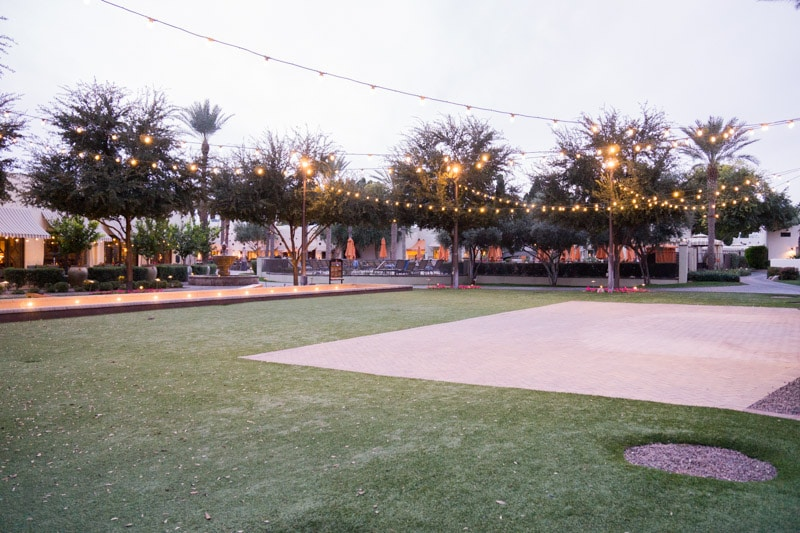 Bocce ball courts at one of the best family resorts in Phoenix