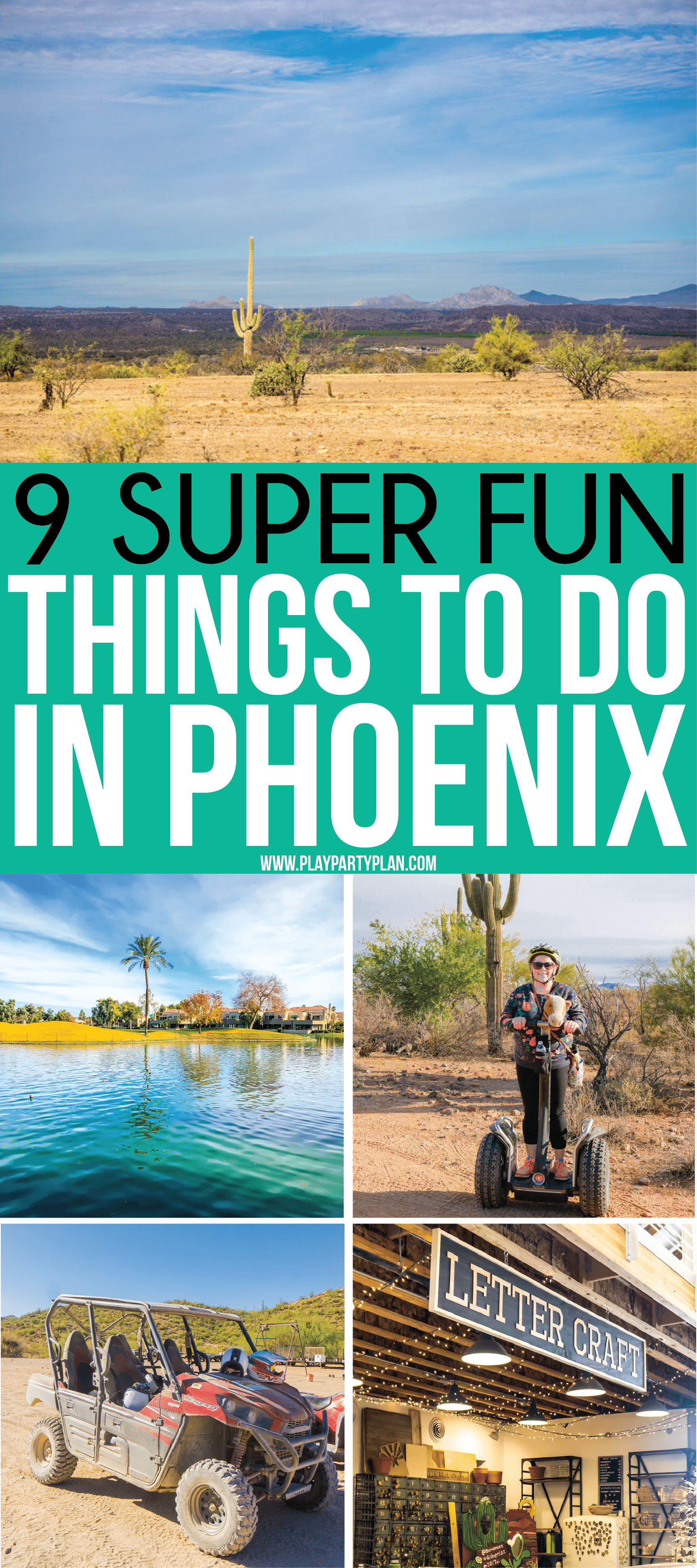 The best things to do in Phoenix Arizona whether you're living there already or just going on vacation! Great restaurants to try, downtown nightlife to experience, must-see attractions, and of course things to do with kids! The ultimate resource for someone looking for what to do in Phoenix!