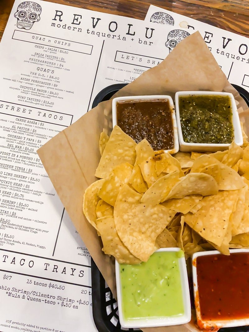 Chips and salsa at Revolu Taqueria, one of most fun places to eat in Phoenix