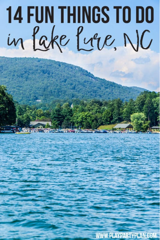 A picture of Lake Lure NC