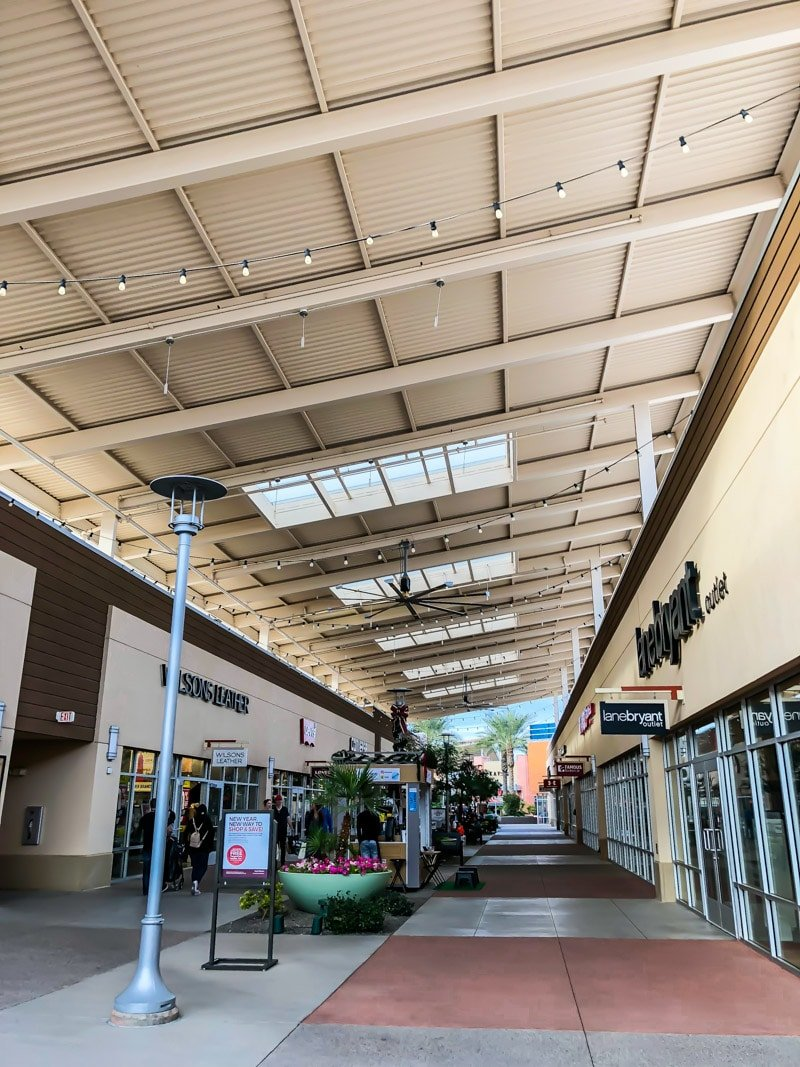 Shopping at the Tanger Outlets is one of the best things to do in Phoenix on a rainy day