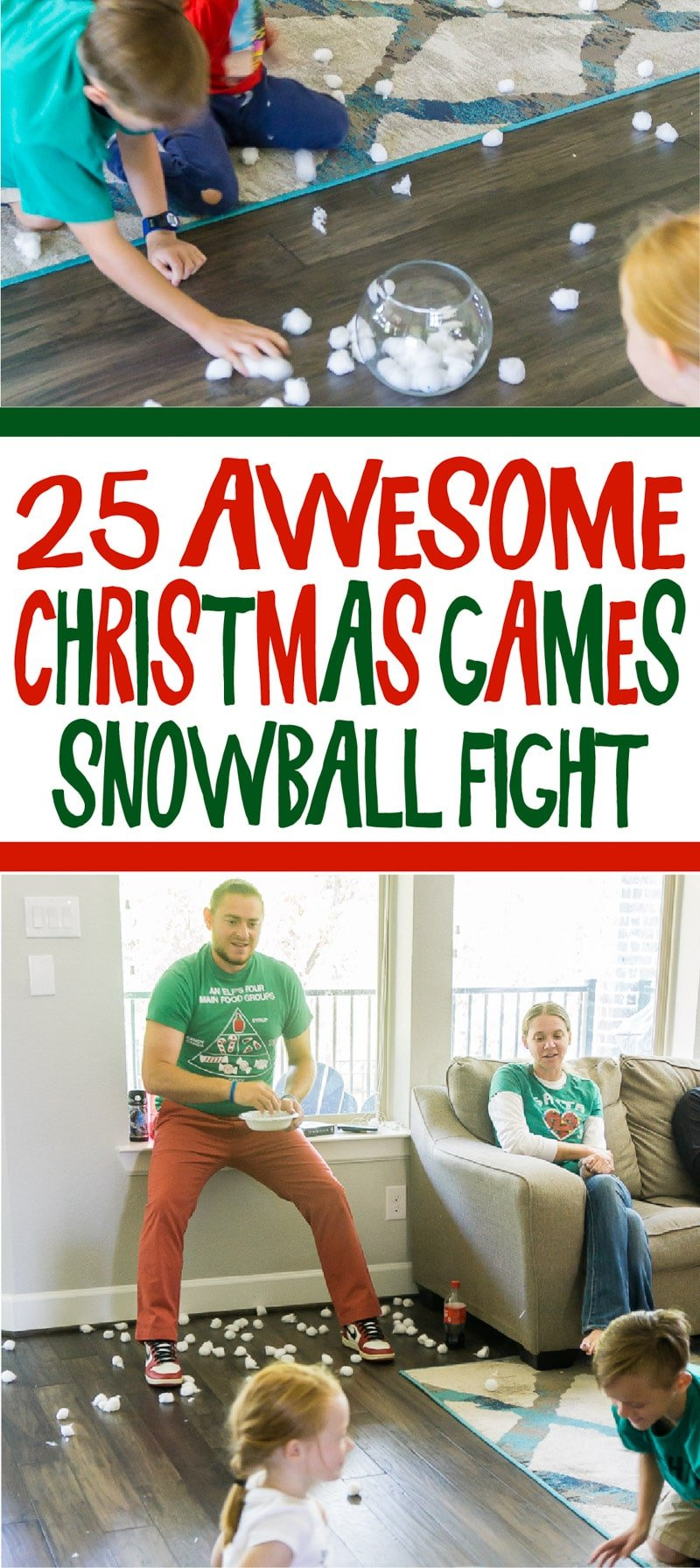 Funny Christmas games played minute to win it style